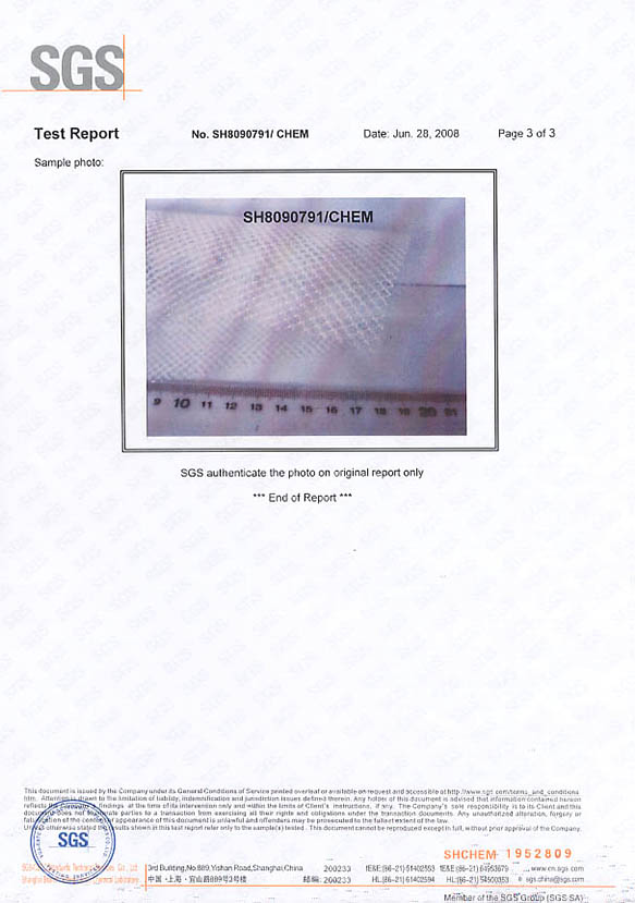 SGS材料测试报告3